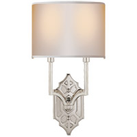 Visual Comfort TOB2600PN-NP Thomas OBrien Silhouette 2 Light 9 inch Polished Nickel Decorative Wall Light