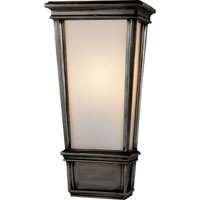 Visual Comfort Thomas OBrien Laurent 1 Light Bath Wall Light in Bronze with Wax TOB2702BZ-WG