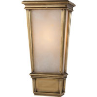 Visual Comfort Thomas OBrien Laurent 1 Light Bath Wall Light in Hand-Rubbed Antique Brass TOB2702HAB-ALB
