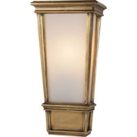 Visual Comfort Thomas OBrien Laurent 1 Light Bath Wall Light in Hand-Rubbed Antique Brass TOB2702HAB-WG