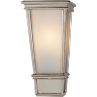 Visual Comfort Thomas OBrien Laurent 1 Light Bath Wall Light in Polished Nickel TOB2702PN-WG