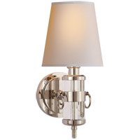 Visual Comfort TOB2730CG-NP Thomas O'Brien Jonathan 1 Light 6 inch Crystal Decorative Wall Light