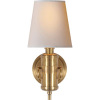 Visual Comfort TOB2730HAB-NP Thomas OBrien Jonathan 1 Light 6 inch Hand-Rubbed Antique Brass Decorative Wall Light