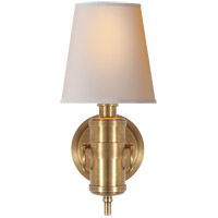 Visual Comfort TOB2730HAB-NP Thomas OBrien Jonathan 1 Light 6 inch Hand-Rubbed Antique Brass Decorative Wall Light