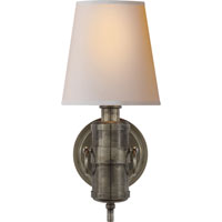Visual Comfort Thomas OBrien Jonathan 1 Light Decorative Wall Light in Sheffield Silver TOB2730SHS-NP
