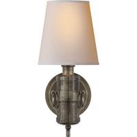 Visual Comfort TOB2730SHS-NP Thomas OBrien Jonathan 1 Light 6 inch Sheffield Silver Decorative Wall Light
