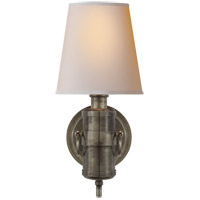 Visual Comfort TOB2730SHS-NP Thomas OBrien Jonathan 1 Light 6 inch Sheffield Silver Decorative Wall Light
