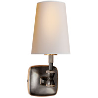 Visual Comfort Thomas OBrien Geary 1 Light Decorative Wall Light in Bronze with Antique Brass with Natural Paper Shade TOB2732BZ/HAB-NP
