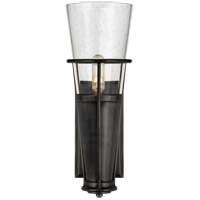 Thomas OBrien Robinson 4 inch Bronze Sconce Wall Light in Seeded Glass, Thomas O'Brien, Seeded Glass