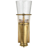Thomas OBrien Robinson 4 inch Hand-Rubbed Antique Brass Sconce Wall Light in Seeded Glass, Thomas O'Brien, Seeded Glass