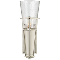 Visual Comfort TOB2751PN-SG Thomas OBrien Robinson 4 inch Polished Nickel Sconce Wall Light in Seeded Glass, Thomas O''Brien, Seeded Glass
