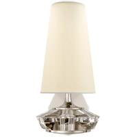 Visual Comfort TOB2905PN/CG-PL Thomas O'Brien Santo 1 Light 6 inch Polished Nickel and Crystal Wall Sconce Wall Light