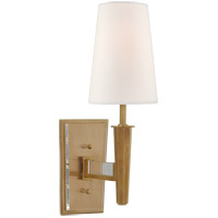 Visual Comfort TOB2942HAB-L Thomas OBrien Lyra 1 Light 5 inch Hand-Rubbed Antique Brass and Crystal Sconce Wall Light Small