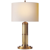 Visual Comfort TOB3000HAB-NP Thomas Obrien Longacre 16 inch 25 watt Hand-Rubbed Antique Brass Decorative Table Lamp Portable Light