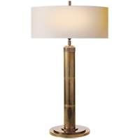 Visual Comfort TOB3001HAB-NP Thomas Obrien Longacre 33 inch 60 watt Hand-Rubbed Antique Brass Decorative Table Lamp Portable Light