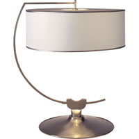 Thomas OBrien Academy 24 inch 60 watt Brushed Chrome Decorative Table Lamp Portable Light in White Paper