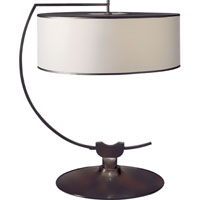 Thomas OBrien Academy 24 inch 40 watt Bronze Decorative Table Lamp Portable Light in Natural Paper