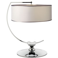 Thomas OBrien Academy 24 inch 60 watt Chrome Decorative Table Lamp Portable Light in White Paper