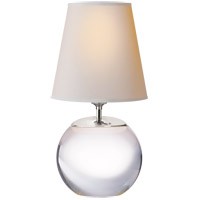 Visual Comfort TOB3014CG-NP Thomas O'Brien Terri 13 inch 60 watt Silver Decorative Table Lamp Portable Light in Crystal