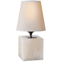 Visual Comfort TOB3020ALB-NP Thomas OBrien Terri 13 inch 40 watt Alabaster Natural Stone Decorative Table Lamp Portable Light