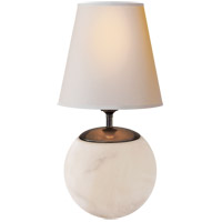 Visual Comfort TOB3023ALB-NP Thomas OBrien Terri 15 inch 60 watt Alabaster Natural Stone Decorative Table Lamp Portable Light