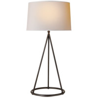 Visual Comfort TOB3026AI-NP Thomas Obrien Nina 31 inch 150 watt Aged Iron Decorative Table Lamp Portable Light in Natural Paper