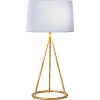 Visual Comfort Thomas OBrien Nina 1 Light Decorative Table Lamp in Gilded Iron with Wax TOB3026GI-C