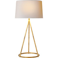 Visual Comfort Thomas OBrien Nina 1 Light Decorative Table Lamp in Gilded Iron with Wax TOB3026GI-NP