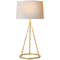 Visual Comfort TOB3026GI-NP Thomas Obrien Nina 31 inch 150 watt Gilded Iron Decorative Table Lamp Portable Light in Natural Paper