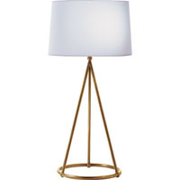 Visual Comfort Thomas OBrien Nina 1 Light Decorative Table Lamp in Hand-Rubbed Antique Brass TOB3026HAB-C