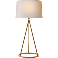 Visual Comfort Thomas OBrien Nina 1 Light Decorative Table Lamp in Hand-Rubbed Antique Brass TOB3026HAB-NP