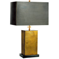 Thomas OBrien Dixon 21 inch 60 watt Antique Brass with Bronze Decorative Table Lamp Portable Light in (None), Hand-Rubbed Antique Brass