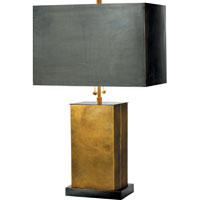 Visual Comfort TOB3032HAB/BZ-BZ Thomas OBrien Dixon 21 inch 60 watt Antique Brass with Bronze Decorative Table Lamp Portable Light in (None), Hand-Rubbed Antique Brass