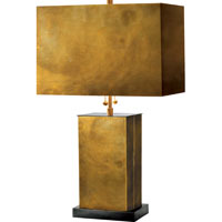 Visual Comfort Thomas OBrien Dixon 2 Light Decorative Table Lamp in Antique Brass with Bronze TOB3032HAB/BZ-HAB