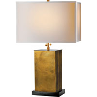 Visual Comfort TOB3032HAB/BZ-NP Thomas OBrien Dixon 21 inch 40 watt Antique Brass with Bronze Decorative Table Lamp Portable Light in (None), Hand-Rubbed Antique Brass, Natural Paper