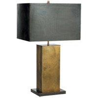 Thomas OBrien Dixon 31 inch 60 watt Antique Brass with Bronze Decorative Table Lamp Portable Light in (None), Hand-Rubbed Antique Brass