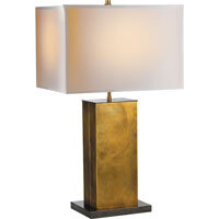 Visual Comfort Thomas OBrien Dixon 2 Light Decorative Table Lamp in Antique Brass with Bronze TOB3033HAB/BZ-NP