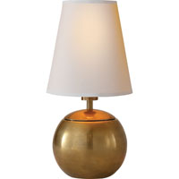 Visual Comfort TOB3051HAB-NP Thomas OBrien Terri 10 inch 25 watt Hand-Rubbed Antique Brass Decorative Table Lamp Portable Light
