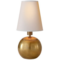 Visual Comfort TOB3051HAB-NP Thomas Obrien Terri 10 inch 40 watt Hand-Rubbed Antique Brass Decorative Table Lamp Portable Light