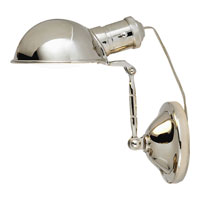 Visual Comfort Thomas OBrien Tommy 1 Light Task Table Lamp in Polished Nickel TOB3052PN