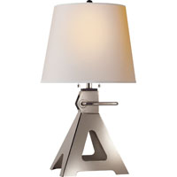 Visual Comfort Thomas OBrien Loughlin 2 Light Decorative Table Lamp in Polished Nickel TOB3060PN-NP