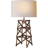 Visual Comfort Thomas OBrien Derrick 1 Light Decorative Table Lamp in Aged Iron with Wax TOB3149AI-NP
