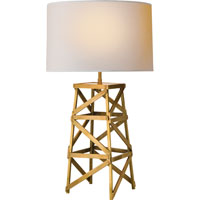 Visual Comfort Thomas OBrien Derrick 1 Light Decorative Table Lamp in Hand-Rubbed Antique Brass TOB3149HAB-NP