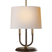 Visual Comfort Thomas OBrien Calliope 2 Light Decorative Table Lamp in Bronze with Antique Brass Accents TOB3153BZ/HAB-NP