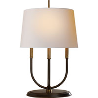 Visual Comfort Thomas OBrien Calliope 4 Light Decorative Table Lamp in Bronze with Antique Brass Accents TOB3163BZ/HAB-NP