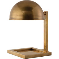 Visual Comfort Thomas OBrien Kevin 1 Light Task Table Lamp in Hand-Rubbed Antique Brass TOB3185HAB