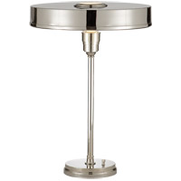 Visual Comfort Thomas OBrien Carlo 1 Light Task Table Lamp in Polished Nickel TOB3190PN