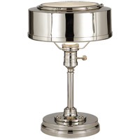 Visual Comfort TOB3197PN Thomas O'Brien Henley 13 inch 60 watt Polished Nickel Task Table Lamp Portable Light
