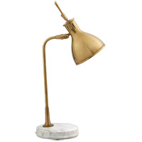 Visual Comfort TOB3206HAB/WM Thomas OBrien Enrico 22 inch 40 watt Hand-Rubbed Antique Brass Table Lamp Portable Light