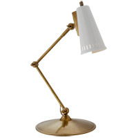 Visual Comfort TOB3212HAB-AW Thomas OBrien Antonio 24 inch 60 watt Hand-Rubbed Antique Brass Task Lamp Portable Light in Antique White
